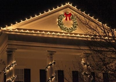 Farmington Christmas light installation